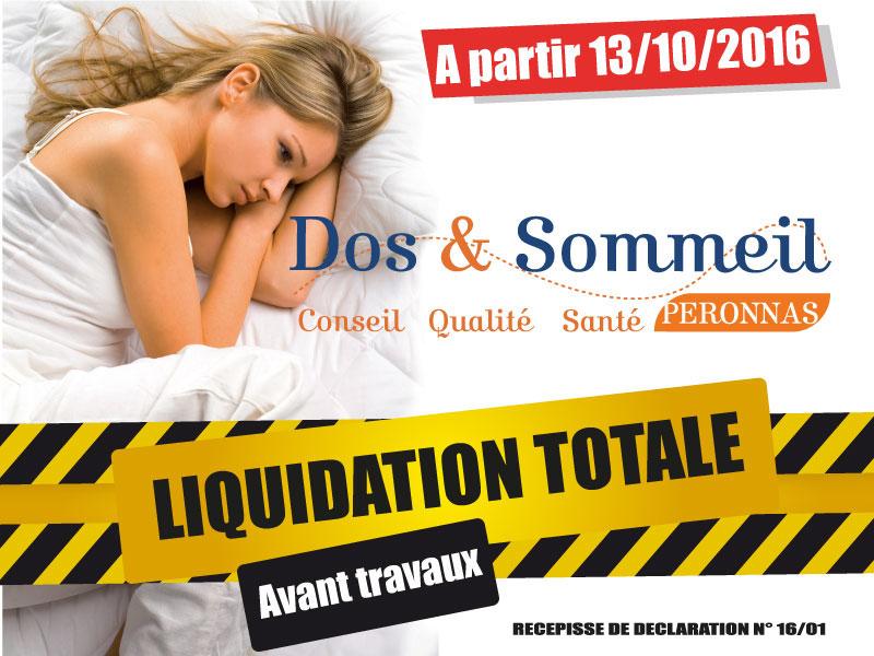 Liquidation totale avant travaux Magasin literie Bourg en Bresse Dos et Sommeil